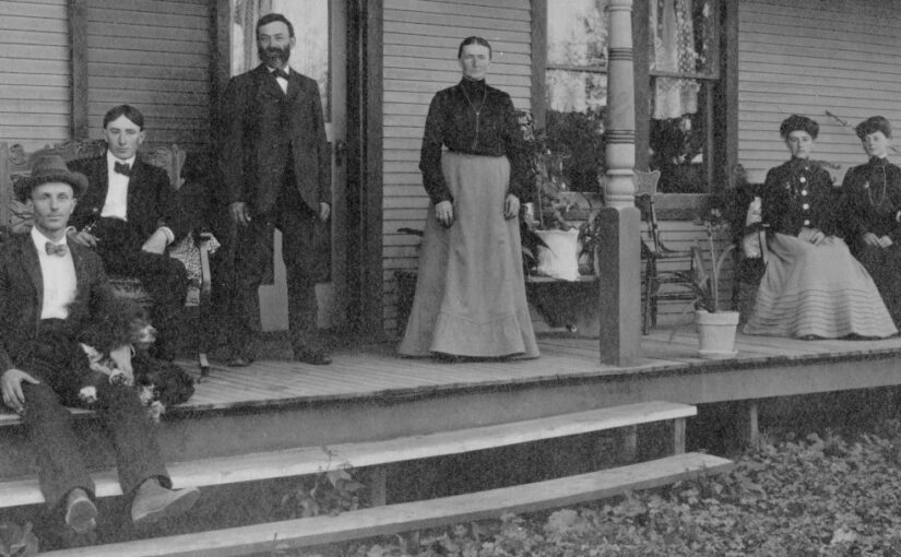 A picture of a family from the late 1890s.