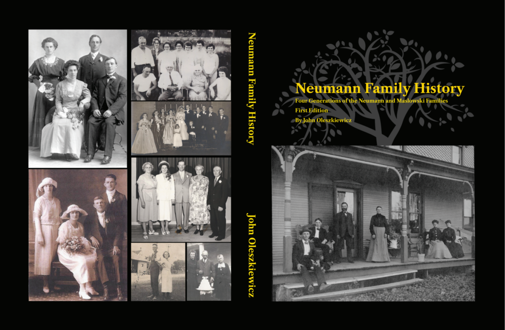 An image of the cover of my most recent family history book